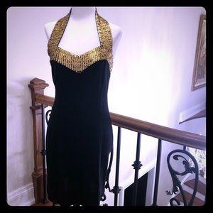 Evening wool blend dress
